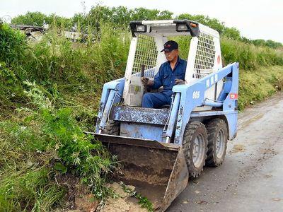 農道の法面保全
