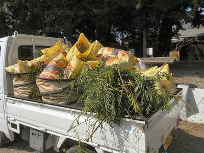 草や枝の処分
