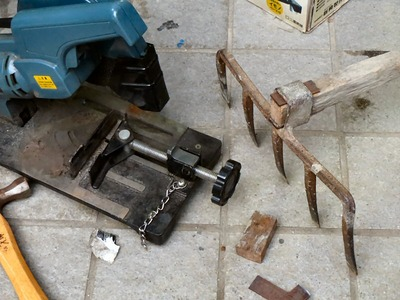 五つ鍬の修理