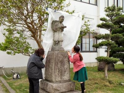 二宮金次郎像の撮影