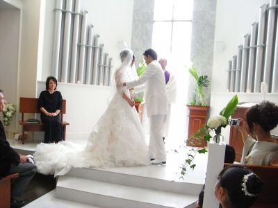 従弟の結婚式