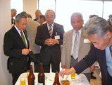 懇親会でお会いした豊田市議と福岡市議