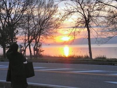 夕日を撮影