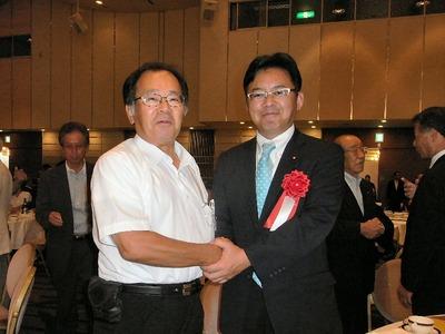 上野代議士と