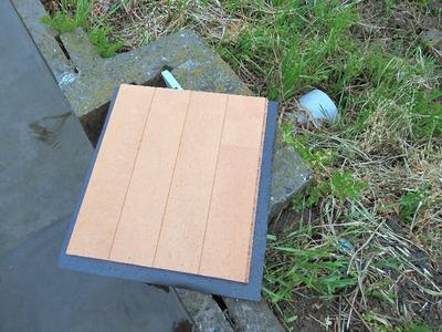 ゴムを貼った止水板