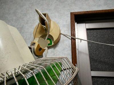 脱衣室の壁掛け扇