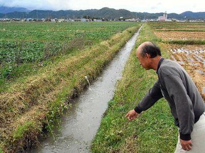 台風後の水路確認
