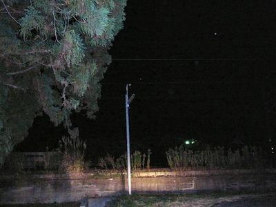 街路灯神明神社線路側