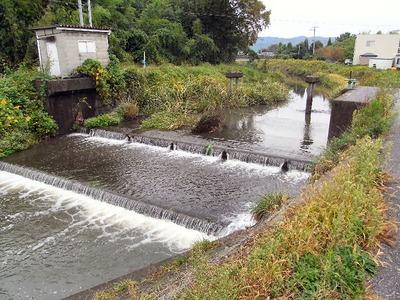 土川井堰側橋脚撤去前2009年10月