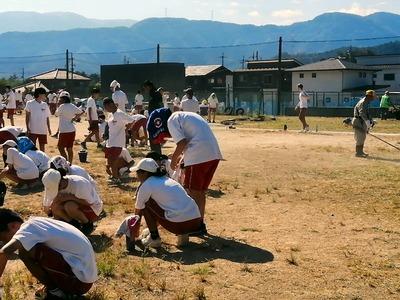 双葉中学校環境整備活動