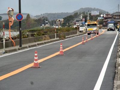 湖岸道路舗装補修