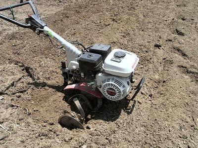耕運機の試運転