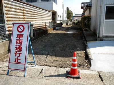 坂田小学校西側道路