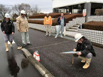 近江母の郷文化センター舗装工事の完成検査