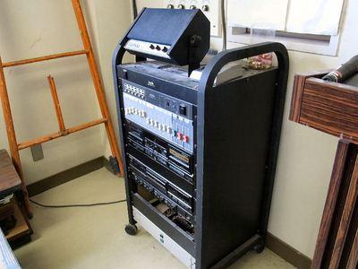 坂田小学校体育館の放送設備