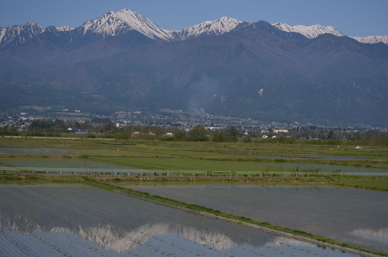 田植え後の水鏡、安曇野の夕日。 : 長野県安曇野市在住 KITAZAWA ...