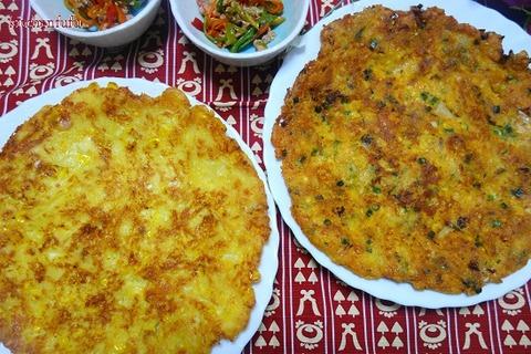 豆腐とキムチ、チーズのチヂミ♪カリッともっちり