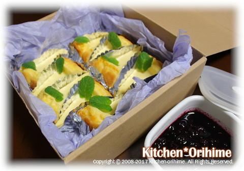 チーズケーキ ブルーベリーソース全体