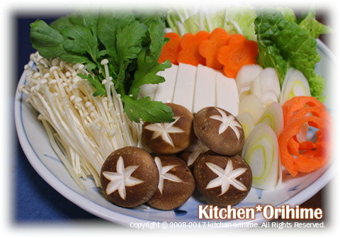 お鍋の野菜