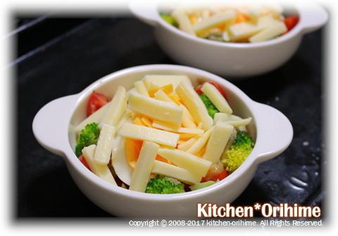 卵&野菜のチーズ焼き②