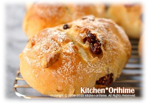 胡桃とレーズンのパン-アップ