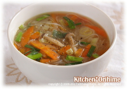 お昼-スープ春雨
