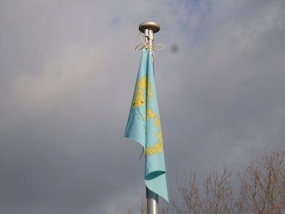 ちばキャンプ11 上がった旗