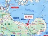 宇佐市の地図