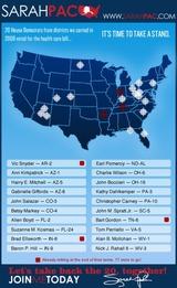 Sarah Palin氏の標的地図