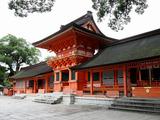 宇佐神宮、上宮の回廊、この内側に本殿三棟が鎮座している