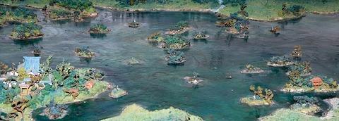象潟九十九島の模型