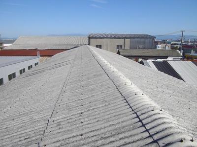 新潟市 波型スレート屋根カバー工事 三条市遠藤板金工業 ガルバリウム 張り替え 貼り替え