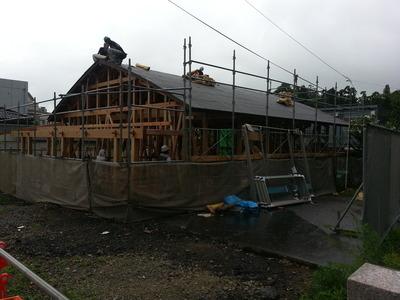 新潟県三条市の屋根外壁リフォーム専門店《遠藤組》弥彦村の観光案内所の工事始まりました