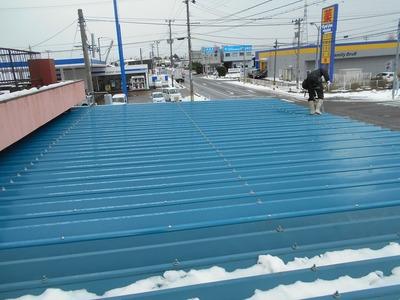 新潟県三条市の屋根外壁塗装リフォーム専門店 遠藤組 折板葺き替え工事
