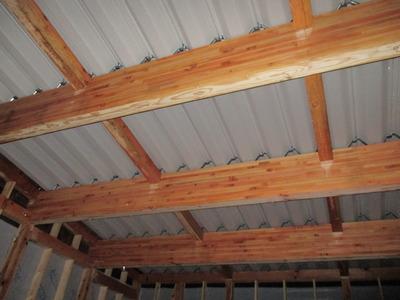 新潟県三条市の屋根外壁塗装リフォーム専門店遠藤組 車庫の屋根 折板葺き