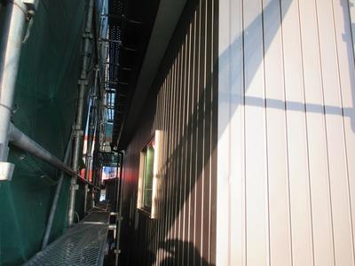 新潟県三条市の屋根外壁塗装リフォーム専門店遠藤組 外壁 角波カラーGL0.35