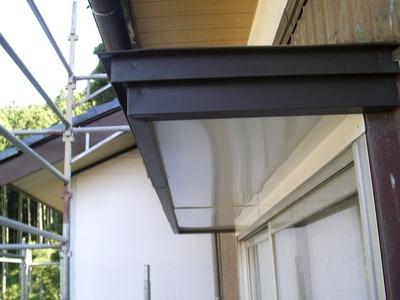 新潟県三条市の屋根外壁塗装リフォーム専門店遠藤組 窓上庇のリフォーム