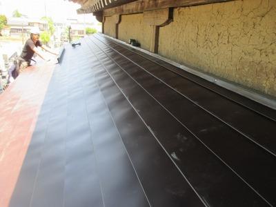 新潟県三条市の屋根外壁塗装リフォーム専門店遠藤組 横葺カラーステンレス0.35mm