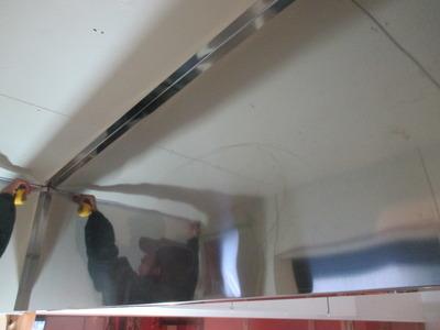 新潟県三条市 厨房ステンレス板貼り工事 SUS304 t0.4