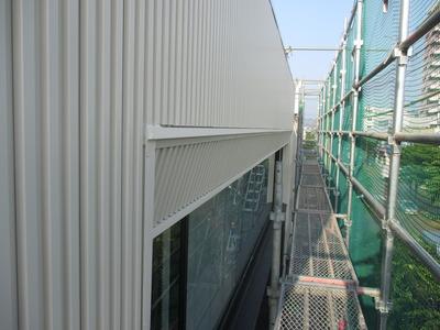 新潟県三条市の屋根外壁塗装リフォーム専門店遠藤組 角スパンドレルでカバー工事