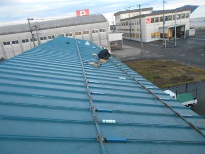 新潟県三条市の屋根外壁塗装リフォーム専門店遠藤組 工場屋根雨漏り修理