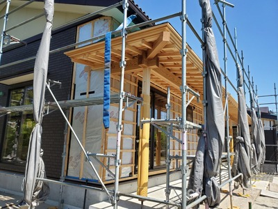 新潟県三条市の屋根外壁工事 遠藤板金工業有限会社 新築の屋根外壁工事