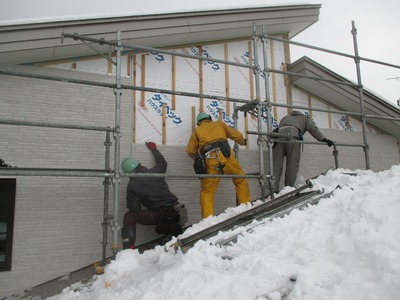 新潟県三条市の屋根外壁塗装リフォーム専門店遠藤組 窯業系サイディングの施工