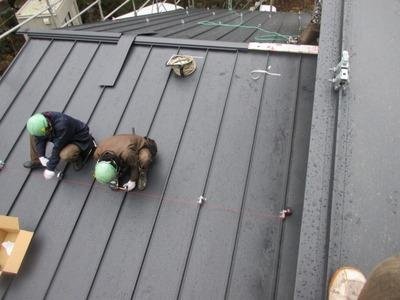 雪止取り付け 新潟県三条市の屋根外壁塗装リフォーム専門店 遠藤組