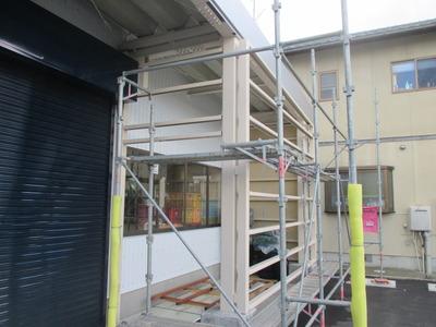 新潟県燕市の外壁工事 角波カラーGL0.35  下地石膏ボード12.5mm