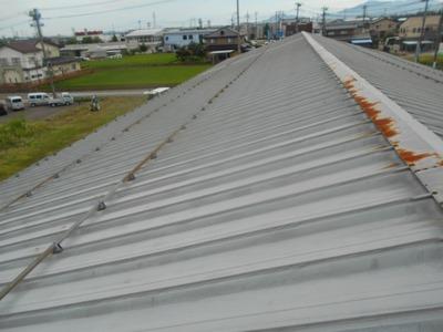 新潟県三条市の屋根外壁塗装リフォーム専門店遠藤組 瓦棒葺屋根雨漏り修理