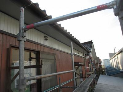 新潟県三条市の屋根塗装リフォーム専門店遠藤組 破風、雨樋、小壁の張り替え