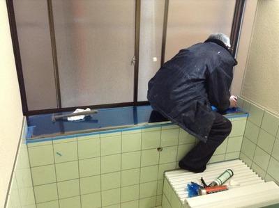 新潟県三条市の屋根外壁塗装リフォーム専門店《遠藤組》お風呂場のステンレス板貼