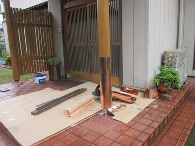新潟県三条市の屋根外壁塗装リフォーム専門店遠藤組 玄関柱銅板巻