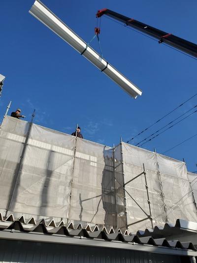 新潟県三条市の屋根外壁専門店 遠藤板金工業有限会社 折板屋根カバー工事